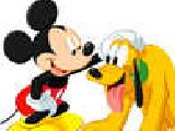 Play Mickey et pluto puzzle slider