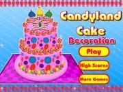 Play Candyland cake decoration