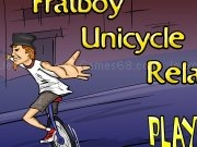 Play Frat boy unicycle relay