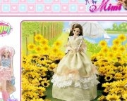 Play Barbie sun flowers puzzle