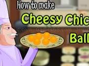 Play How to make cheesy chicken balls