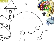 Play Boo the ghost coloring
