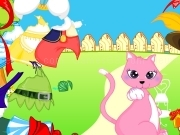 Play Pink cat dress up