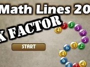 Play Math lines 20 - X factor