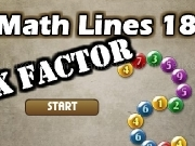 Play Math lines 18 - X factor