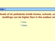 Play Pollutants inside homes